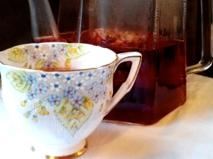 Cranberry Tea Blue Teacup